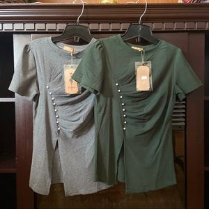 Army Green and Grey Shirts Size Small